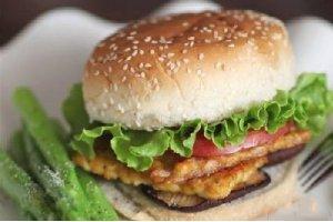 【西式素菜】天贝杂蔬素汉堡