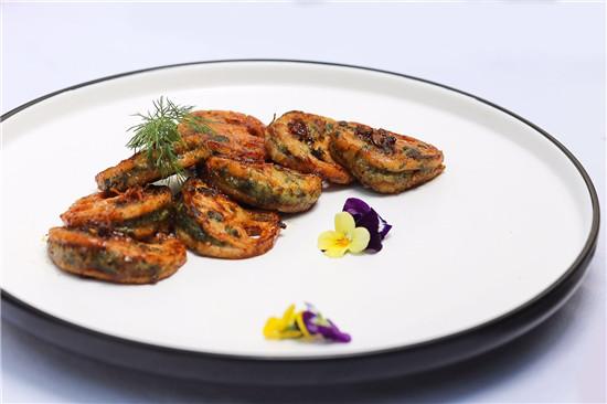 【苏菜】野菜虾饺蒸藕夹