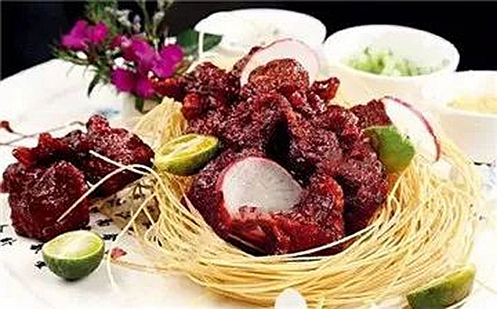 【农家菜】茯茶牛肉