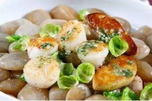 【粤菜】石烹西班牙带子香草汁法国鹅肝