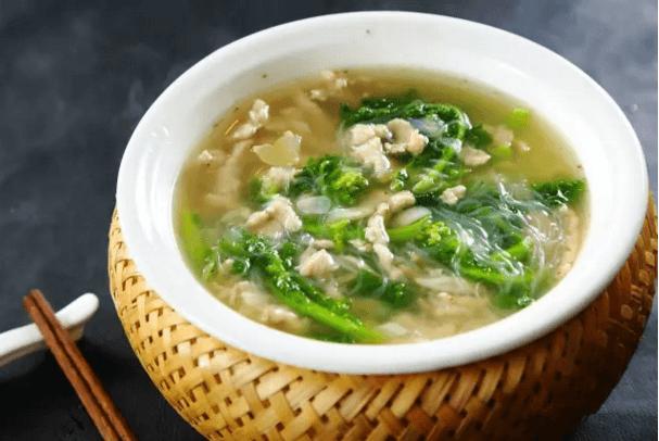【鲁菜】苔菜滑肉片