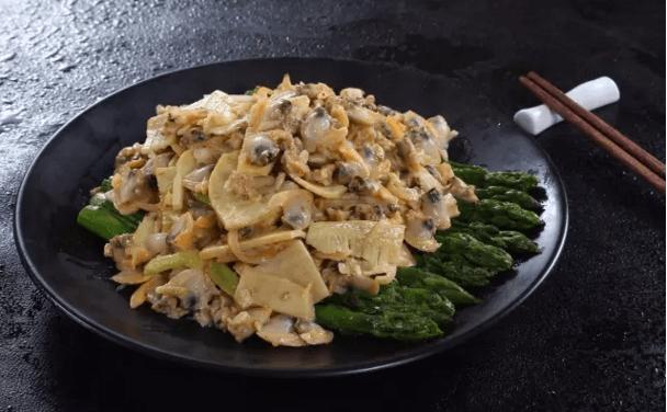 【鲁菜】双笋炝蛤肉