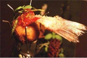 【分子料理】鲈鱼卷配炸鱼丸
