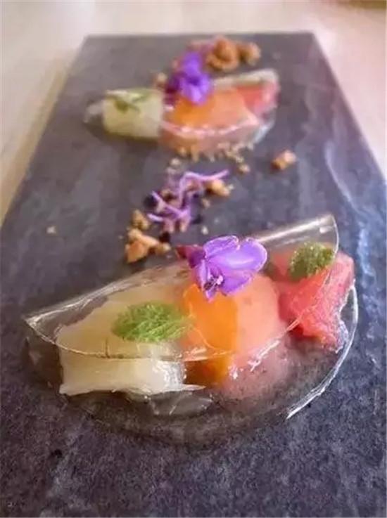 【分子料理】 蜂蜜水果饺子